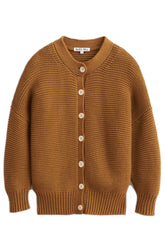 Chunky Cardigan in Golden Khaki
