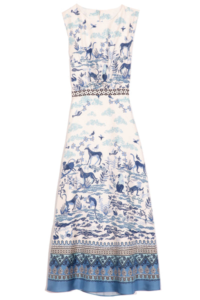 Fleur-D Dress in Porcelain Border