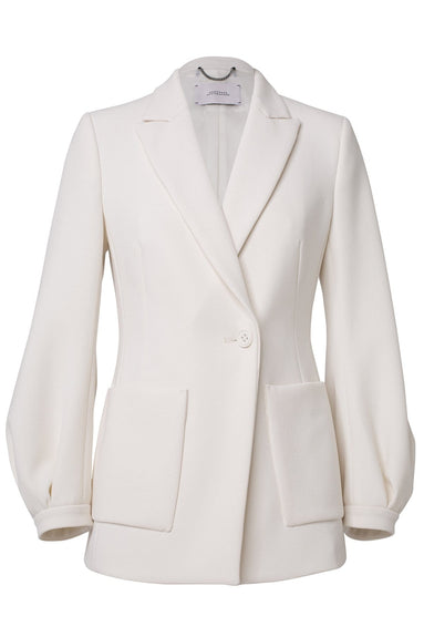 Sophisticated Perfection Jacket in Canvas White
