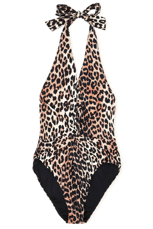 Recycled Printed Swimsuit in Leopard