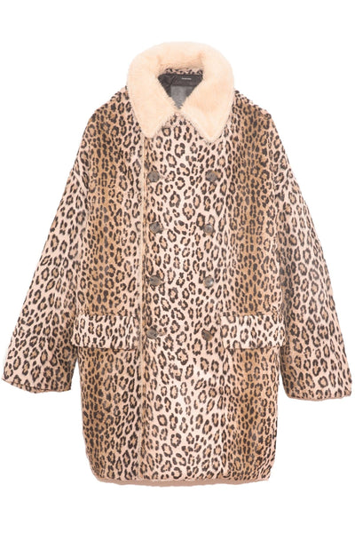 Hunting Coat in Tan Leopard