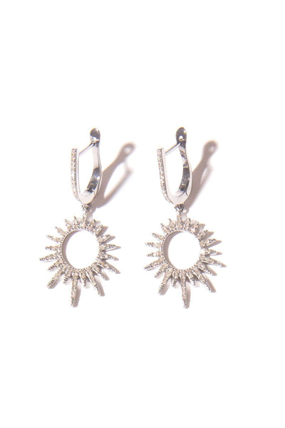 Open Starburst Drop Earrings in Sterling Silver