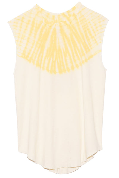 Rib Tank in Yellow Hilma Tie Dye