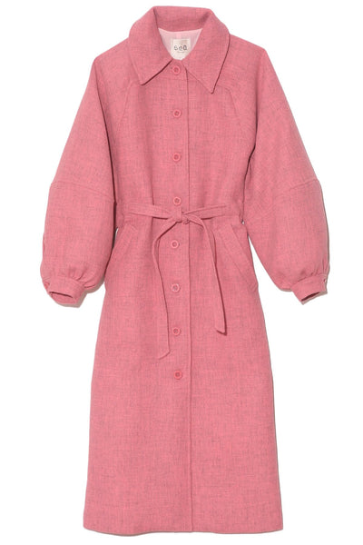 Rizzo Recycled Wool Coat in Carnation