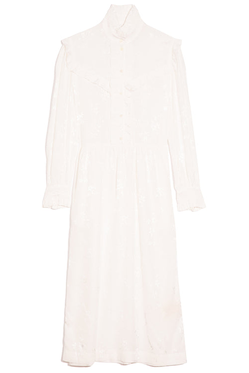 Luna Ruffle Dress in White
