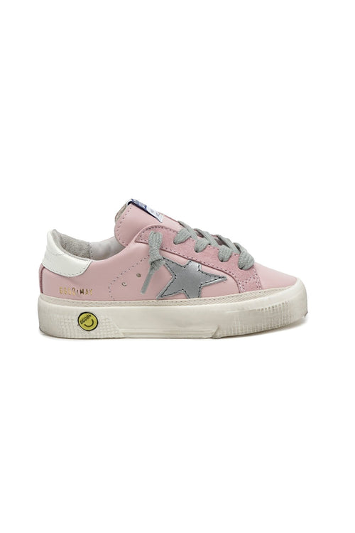Kids May Sneaker in Pink/Silver/Ivory