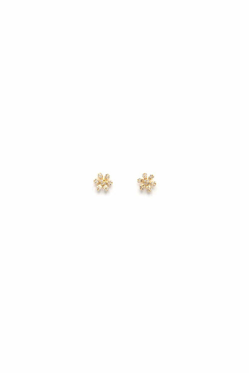 14K Gold Mini Flower Studs