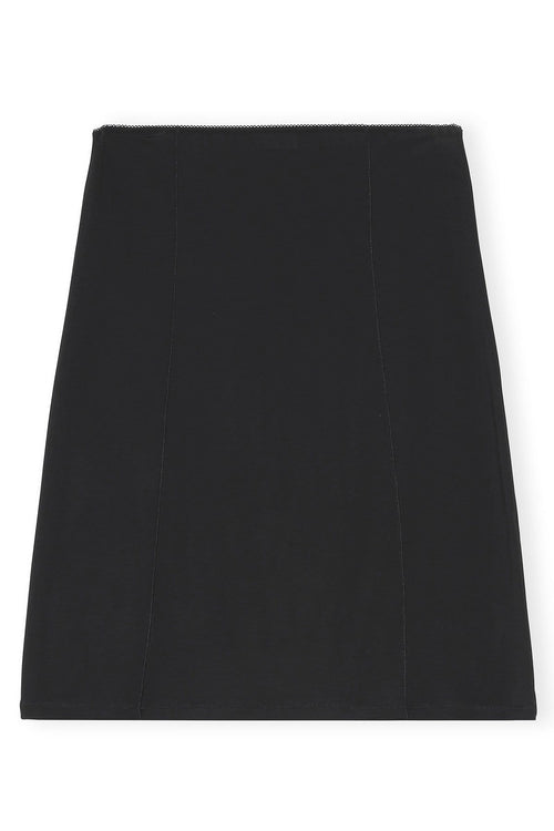 Rayon Slip Skirt in Black