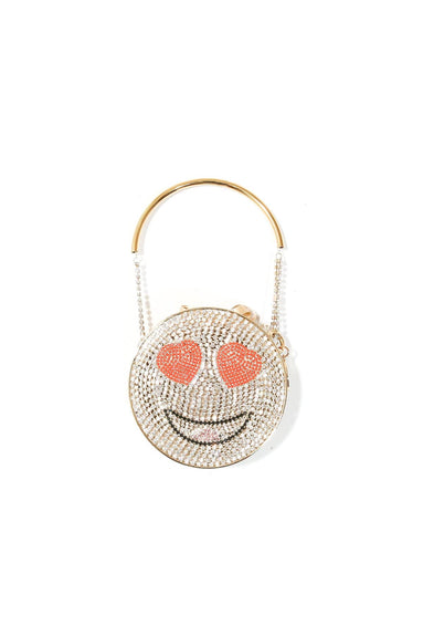 Smile Clutch in Gold
