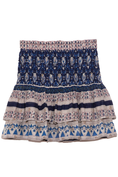 Brigitte Border Skirt in Navy