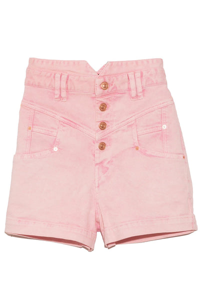 Diroysr Show Stretch Denim Short in Light Pink