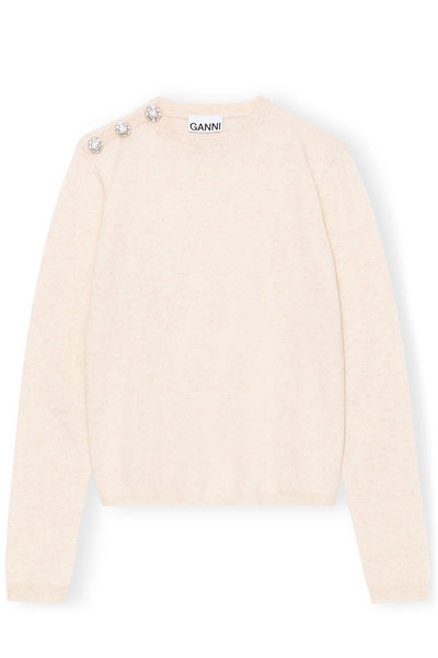Cashmere Knit Pullover in Brazilian Sand