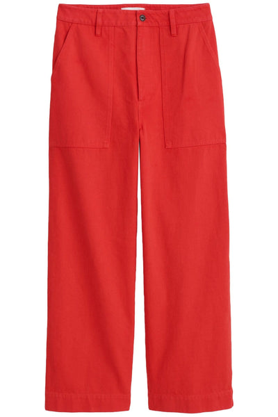 Patrick Upcycled Denim Pant in Berry Red