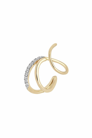 Fury Twirl Earring in Yellow Gold (Right)
