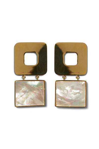 Geo Pearl Earrings