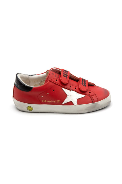 Kids Old School Sneaker in Red/White/Black