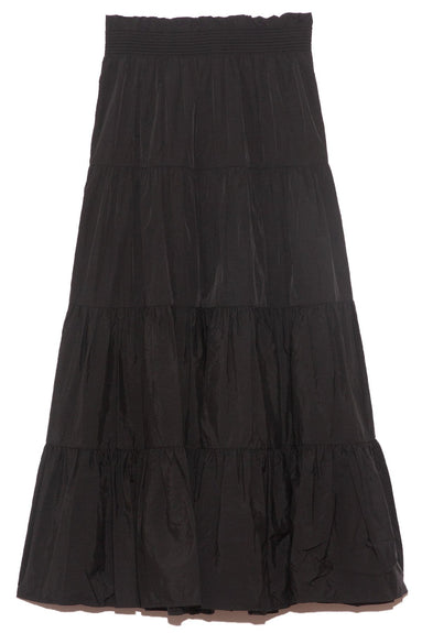 Nadja Tiered Skirt in Black