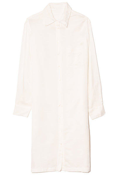 Classic Shirt Dress in White