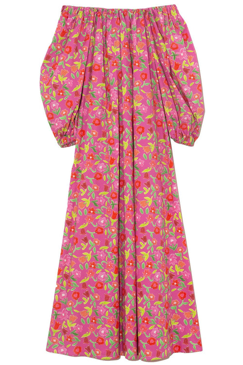 Bobby Cotton Poplin Dress in Jellypop Pink