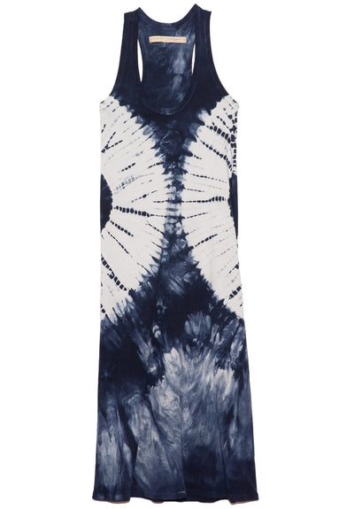 Tank Dress in Indigo White Hilma Tie Dye
