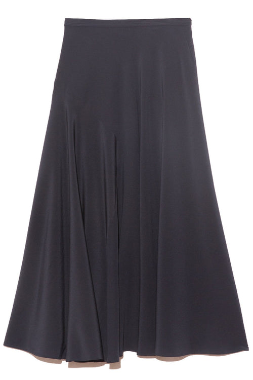 Side Pleat Skirt in Navy