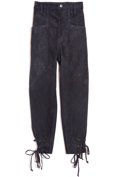Adeloisa Suede Pant in Faded Night