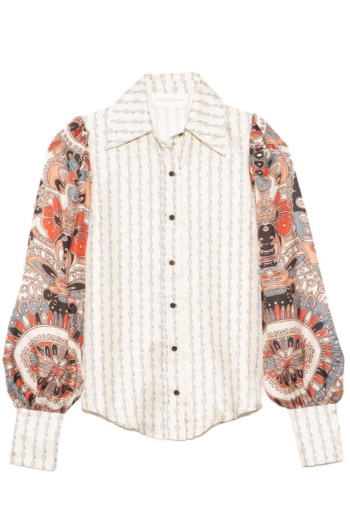 Caroline Top in Mix Mini Goodluck Print