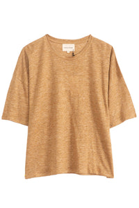 Paea Crop T-Shirt in Kaki Melange