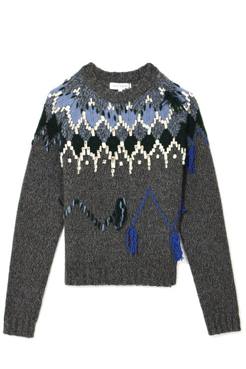 Crystal Embellished Sweater in Anthracite