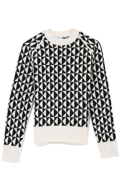 Monogram Sweater in Black/White
