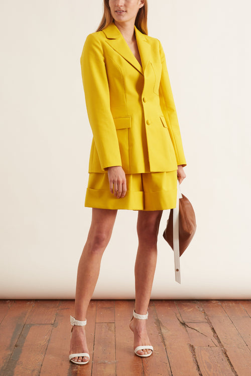Patch Pocket Blazer in Yellow