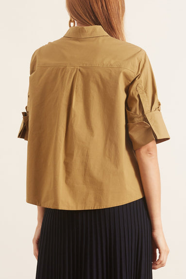 Casual Coolness Blouse in Bronze Beige