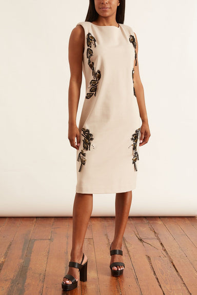 Emotional Essence Dress with Embroidery in Subtle Stone
