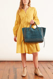 Poplin Power Dress in Sunflower Yellow