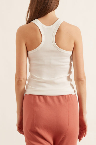 Ribbed Seduction Top in Camellia White