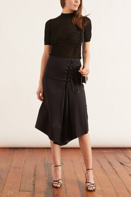 Sporty Power Skirt in Pure Black