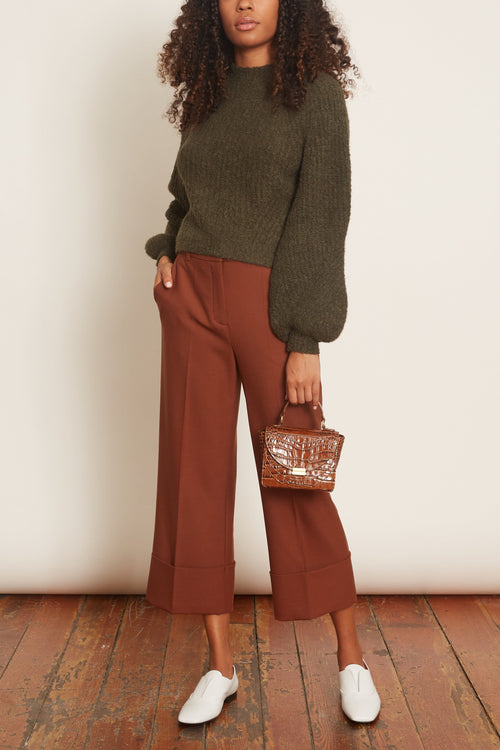 The New Ambition Pants in Dark Chestnut