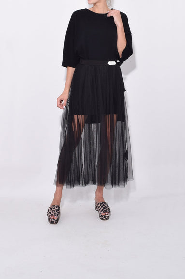 Alluring Tulle Skirt in Pure Black
