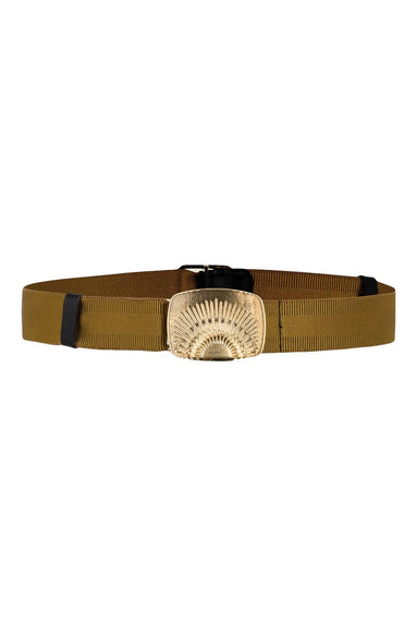 Belted Statement Stretch Belt in Dessert Yellow
