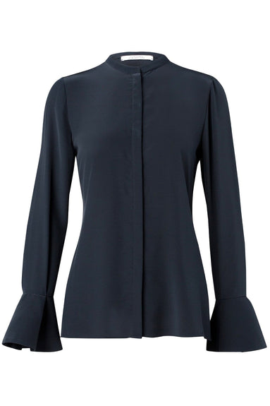 Captivating Motion Blouse in Dark Navy