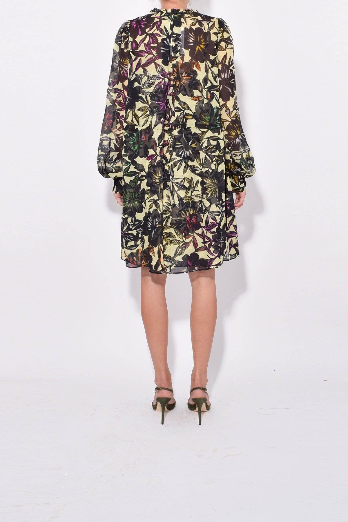Floral Print Gathered Tunic