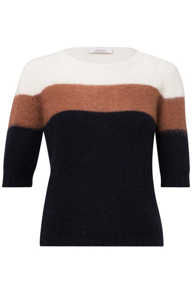 Colorful Flash Pullover in Caramel/Blue Colorblock