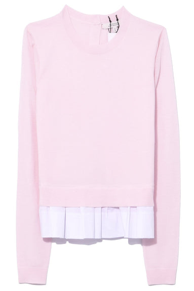 Deconstructed Romance Pullover in Tint of Pink