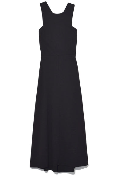 Effortless Chic Sleeveless Dress in Pure Black