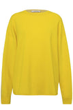 Luxury Volumes Pullover in Yellow Colorblock