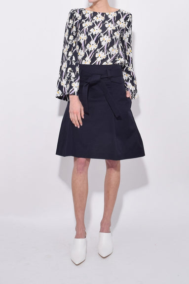 Sharp and Tailored Skirt in Midnight Blue