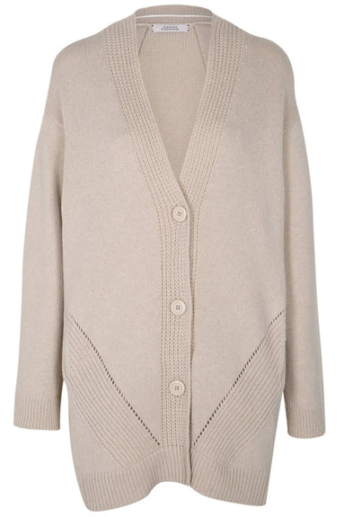 Soft Play V-Neck Coat in Pearl White