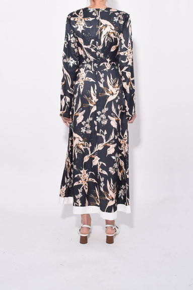 Tamed Florals Dress in Black/Rose Pekish Flower