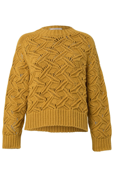True Companion O-Neck Sweater in Curry Crush