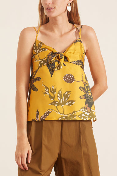 Powerful Flora Top in Orange Passiflora